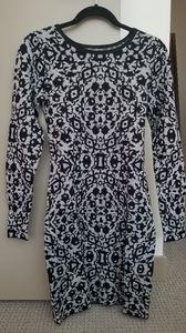 Black patterned dress NWT